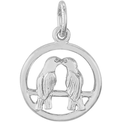 Sterling Silver Love Birds Charm by Rembrandt Charms