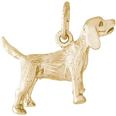 14K Gold Beagle Dog Charm by Rembrandt Charms