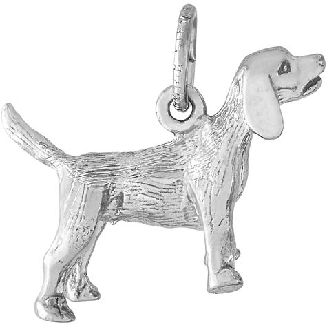 Sterling Silver Beagle Dog Charm by Rembrandt Charms