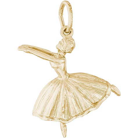 10K Gold Ballet Dancer with Skirt Charm by Rembrandt Charms