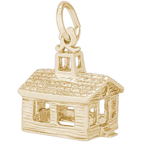 14K Gold School House Charm by Rembrandt Charms