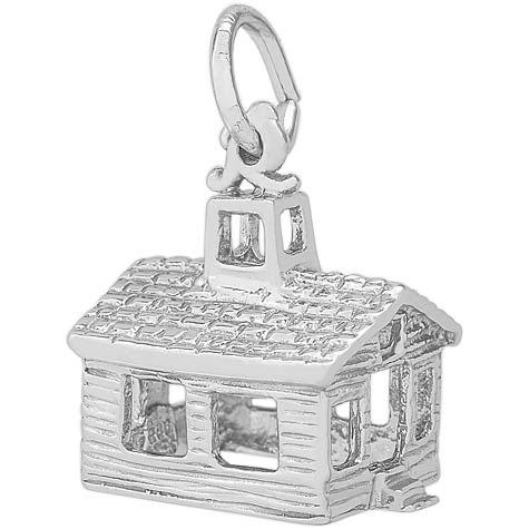 Sterling Silver School House Charm by Rembrandt Charms