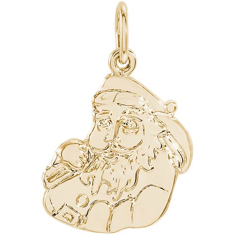 14K Gold Santa Charm by Rembrandt Charms