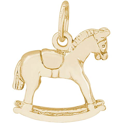 14K Gold Rocking Horse Charm by Rembrandt Charms