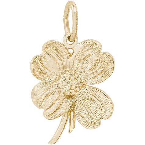 14K Gold Dogwood Flower Charm by Rembrandt Charms