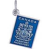 14K White Gold Canadian Passport Charm by Rembrandt Charms