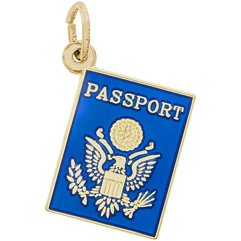 14k Gold Passport Charm by Rembrandt Charms