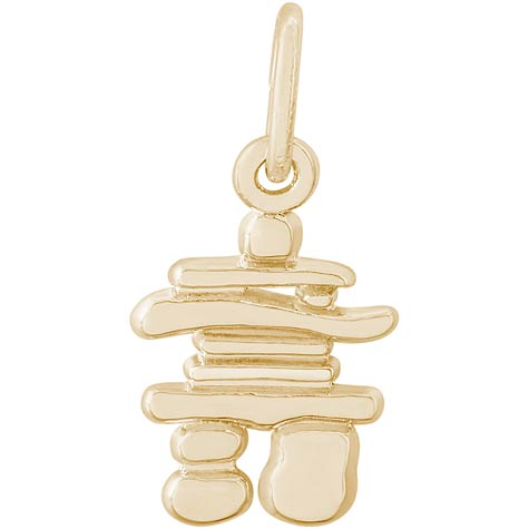 14K Gold Inukshuk Charm by Rembrandt Charms