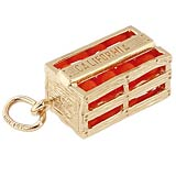 Gold Plated California Oranges Charm by Rembrandt Charms