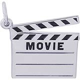 14k White Gold Movie Clap Board Charm by Rembrandt Charms