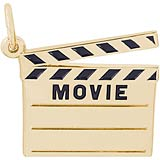 10k Gold Movie Clap Board Charm by Rembrandt Charms