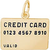 Gold Plated Credit Card Charm by Rembrandt Charms