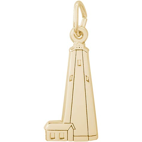 14K Gold Bald Head Lighthouse Charm by Rembrandt Charms