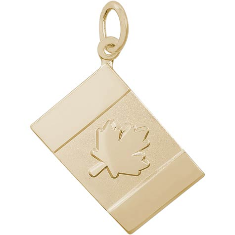 14K Gold Canadian Flag Charm by Rembrandt Charms