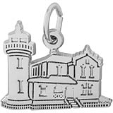 14K White Gold Admiralty Head, WA Lighthouse by Rembrandt Charms