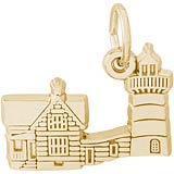 Gold Plated Nubble Cape ME Lighthouse Charm by Rembrandt Charms