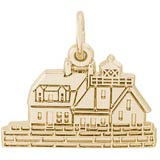 Gold Plated Rockland, ME Lighthouse Charm by Rembrandt Charms