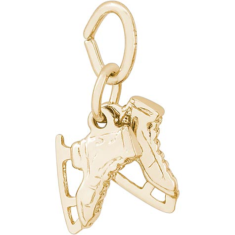 14K Gold Ice Skates Accent Charm by Rembrandt Charms