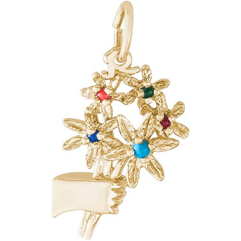 14k Gold Bouquet Charm by Rembrandt Charms