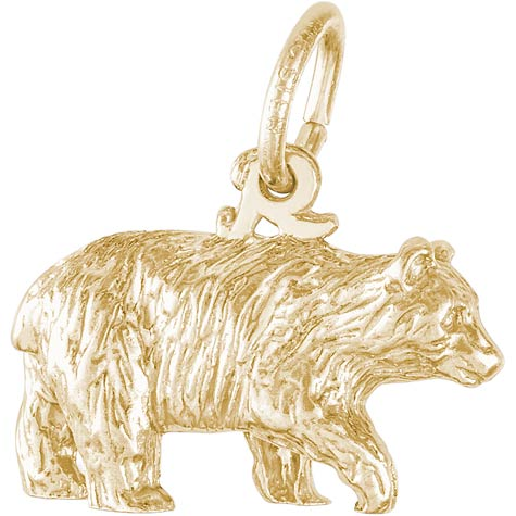 14K Gold Black Bear Charm by Rembrandt Charms