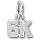Sterling Silver 5K Race Accent Charm by Rembrandt Charms