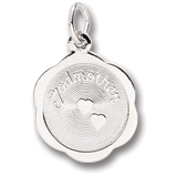 14K White Gold Godmother Charm by Rembrandt Charms