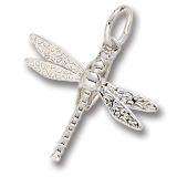 14K White Gold Dragonfly Charm by Rembrandt Charms
