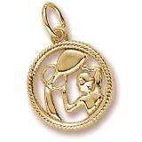10k Gold Aquarius Zodiac Charm by Rembrandt Charms