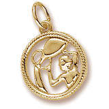 14k Gold Aquarius Zodiac Charm by Rembrandt Charms