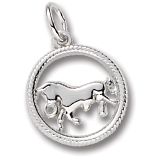 Sterling Silver Taurus Zodiac Charm by Rembrandt Charms