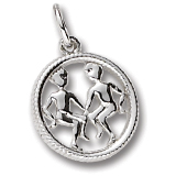 Sterling Silver Gemini Zodiac Charm by Rembrandt Charms