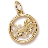 14k Gold Leo Zodiac Charm by Rembrandt Charms