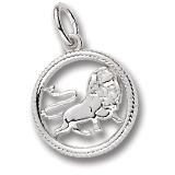 Sterling Silver Leo Zodiac Charm by Rembrandt Charms