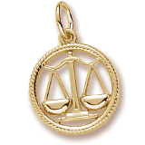 Gold Plated Libra Zodiac Charm by Rembrandt Charms