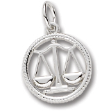 Sterling Silver Libra Zodiac Charm by Rembrandt Charms