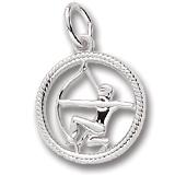 14k White Gold Sagittarius Zodiac Charm by Rembrandt Charms