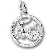 Sterling Silver Capricorn Zodiac Charm by Rembrandt Charms