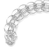 "Sterling Silver Round Link 7"" Charm Bracelet by Rembrandt Charms"