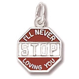 14K White Gold I'll Never Stop Loving You Charm by Rembrandt Charms
