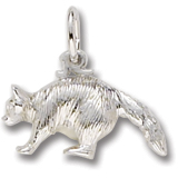 14K White Gold Raccoon Charm by Rembrandt Charms