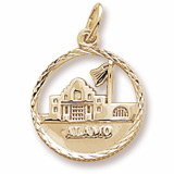 Gold Plated The Alamo Faceted Charm by Rembrandt Charms