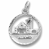 14K White Gold The Alamo Faceted Charm by Rembrandt Charms
