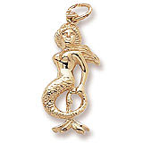 Gold Plate Mermaid Charm by Rembrandt Charms