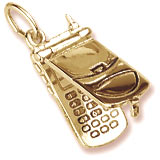 10K Gold Cell Phone Charm flips open by Rembrandt Charms