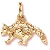 Gold Plate Raccoon Charm by Rembrandt Charms