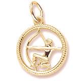 14k Gold Sagittarius Zodiac Charm by Rembrandt Charms