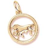 10k Gold Taurus Zodiac Charm by Rembrandt Charms