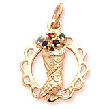 14K Gold Stocking Full of Joy Charm by Rembrandt Charms