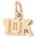 Gold Plated 10K Race Accent Charm by Rembrandt Charms