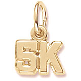 10K Gold 5K Race Accent Charm by Rembrandt Charms